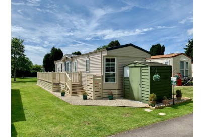Fantastic Willerby Vogue 38x12,  Sited Static Caravan, With Decking sited on 10 Month Holiday Plot